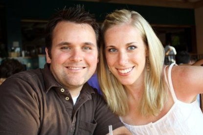 Steven Johnston and his wife, Hailey