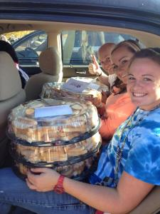 BCM students delivering food to sororities and fraternities