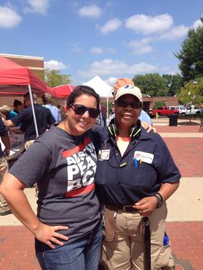 Stacy Murphree, APSU BCM collegiate minister with a member of the campus staff