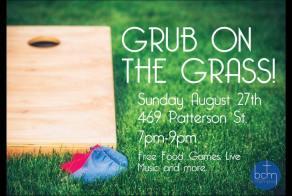 2017 grub on the grass